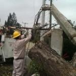 Fuertes vientos en Tampico ocasiona problemas electricos