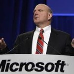 CEO de Microsoft Steve Ballmer vendiendo Windows en sus inicios