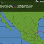 Ciclón tropical en el Golfo de Mexico