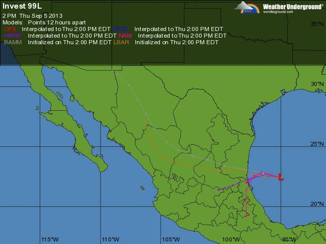 Ciclón Tropical en el Golfo de México