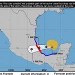 Alertan. Tormenta Franklin se dirige a costas de Veracruz